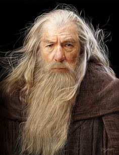 "soukist: "" Gandalf art by Ayuri I'm going to draw the picture of approximately ten people. (^^) ( It is characters appearing for the movie of the. Lord Of Rings, Fellowship Of The Ring, Tolkien, O Hobbit, Hobbit Art, Ian Mckellen, Old Faces, Kino Film, Thranduil"