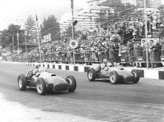 Luigi Villoresi Ferrari Next To Him Alberto Ascari In Another Ferrari Ascari Won Alberto Ascari Also Won San Remo In Driving A Maserati