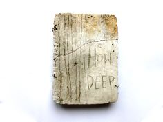 how deep. scratching on concrete. Typography, Lettering, Teaching Art, Paper Art, Original Artwork, Concrete, Copper, Clay, Deep