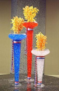 "USA ""Flames of Freedom"" Olympic Flowers by Crossroads Florist, Mahwah NJ"