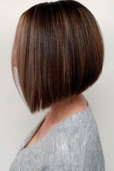 28 Chic And Trendy Styles For Modern Bob Haircuts For Fine Hair - HairstylesClassic Straight Bob ★ Bob haircuts will never lose their popularity. Whether short or long, angled or stacked, straight or wavy, a bob looks awesome Graduated Bob Hairstyles, Stacked Bob Hairstyles, Medium Bob Hairstyles, Sleek Hairstyles, Hairstyles Haircuts, Modern Bob Haircut, Bob Haircut For Fine Hair, Blonde Bob Haircut, Bob Hairstyles For Fine Hair