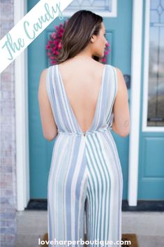 This adorable stripped jumper is perfect for the hot summer weather! It will keep you cool in the heat. Curvy Outfits, Casual Fall Outfits, Simple Outfits, Boho Outfits, Summer Outfits, Fashion Outfits, Long Romper, Summer Romper, Full Figure Fashion