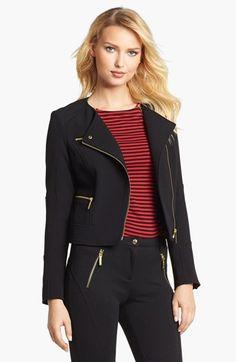 MICHAEL Michael Kors Knit Moto Jacket available at #Nordstrom