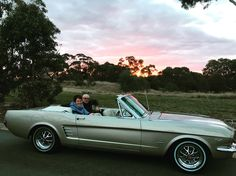 Sunset after a great day of touring in the Mustang.