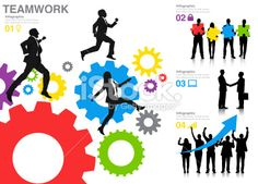 Vector of Business Teamwork and Success Royalty Free Stock Vector Art Illustration