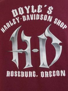 Harley Davidson T Shirt Doyles Shop Roseburg Oregon Maroon X Large $18.99