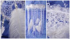 White Roses dream Nursery Mobile handmade exclusive Dreamcatcher bedroom Baby…