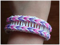 Bridged Fishtail | Rainbow Loom Bracelet Idea. No instructions