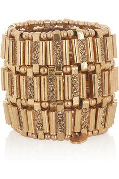 Philippe Audibert  Ava gold-plated crystal cuff  $590