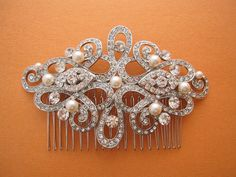 wedding hair comb bridal hair jewelry wedding by ChantalEveleen