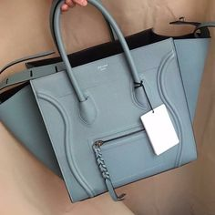 Authentic Celine Phantom!! Rose Blue Spring 16 Edi Brand New, fresh from the store :) 100% authentic Celine Phantom Rose Blue. Please check online for Phantom Sizing, price negotiable via p! Celine Bags Satchels