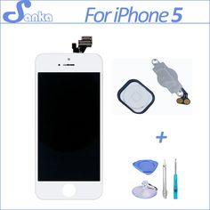 >> Click to Buy << for iPhone 5 LCD Screen Touchscreen Assembly Replacement Display Digitizer with Home Button Mobile Phone Parts White &Tools #Affiliate