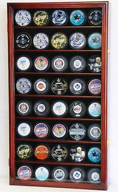 40 hockey puck nhl #display case #cabinet #holder rack uv, View more on the LINK: http://www.zeppy.io/product/gb/2/230615099477/