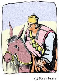 Parsha Balak - Balak sends Balaam to curse the Jews. His talking donkey tries to stop him, to no avail. Each time he opens his mouth, Balaam ends up blessing the nation instead.