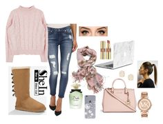 editing day by melody02craig on Polyvore featuring polyvore, fashion, style, 7 For All Mankind, UGG Australia, Michael Kors, Kendra Scott, Yves Saint Laurent and Dolce&Gabbana