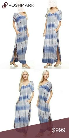 Tie dye maxi dress in stormy sky new S M L Sorry, NO TRADES   Save money and bundle! Save 10 percent on any bundle of 2 or more items! Sofi + Sebastien  Dresses Maxi