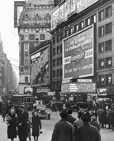 NYC Manhattan Times Square photo dates back to 1938