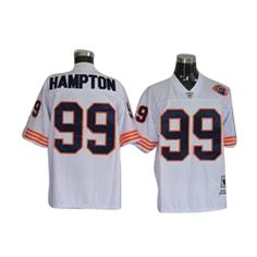 7fdf070b6 Rams Aaron Donald 99 jersey Mitchell   Ness Bears Dan Hampton White With Big  Number Bear Patch Stitched Throwback NFL Jersey