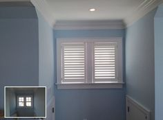 ASAP Blinds   Before and after pics of white plantation shutters in a bedroom alcove