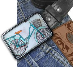 Vintage Cruiser Bike Belt Buckle by What The Buckle on Etsy.com