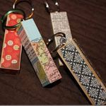 key chains from Jenga wood blocks