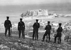 British Marines on guard in the Dardanelles: The background was one of deadlock on the Wes...