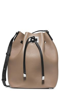 Colorblock Leather Bucket Bag - from @nordstrom #nordstrom