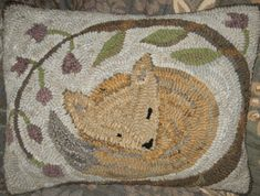 New!  Cozy Fox by Marijo Taylor - Pattern Only or Complete Rug Hooking Kit