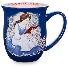 Disney Store Belle Story Mug Sometimes The Best Tea Cup Is Chipped New ❤ liked on Polyvore featuring home, kitchen & dining, drinkware, disney teacup, disney tea cup, disney and disney mugs