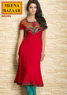 MBJW8 Embroidered Crush Kurti