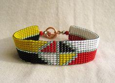 MEDICINE WHEEL Design - Loomed Beaded Bracelet - Custom Beaded Bracelets For You