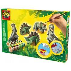 Gjut och måla dinosaurier