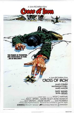 Cross of Iron. Sam Peckinpah's excellent take on WW2 - basically the Wild Bunch set of the eastern front. Told from the German POV it is quite a brutal portrayal. See it in its uncut format if you can.