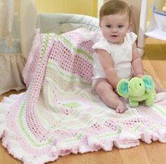 Ruffled Baby Blanket - free crochet pattern