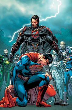 Action Comics (NM) Aug` Written by Dan Jurgens. Art by Jackson Herbert. Revenge: Part Cover by Patrick Zircher. Superman races to save the Suicide Squad from General Zod, Cyborg Superman and Eradicator. Marvel Dc Comics, Comics Anime, Hq Marvel, Dc Comics Art, Superman Comic, General Zod, Comic Books Art, Comic Art, Book Art