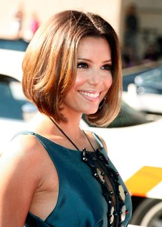 Cute layered bob haircut (Eva Longoria)