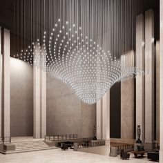 Beautiful installation of Incanto for hotel project. Contemporary Interior Design, Office Interior Design, Contemporary Art, Booth Design, Wall Design, Interior Lighting, Lighting Design, Apartment Lighting, Light Art