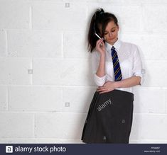 Stock Photo - British rebel school girl in uniform smoking, February 2016 Cute School Uniforms, Girls Uniforms, Women Smoking, Girl Smoking, British School Uniform, School Girl Dress, British Schools, High School Girls, February 2016