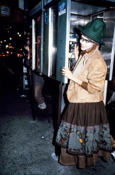 Still from the video for Buffalo Gals by Malcolm McLaren (1982). The skirt was inspired by his trip to the Andes and the sheepskin jacket fr...