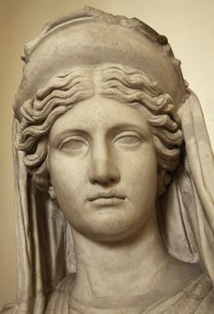 Demeter (Ceres) Ludovisi.  Coarse marble. Roman copy of the 2nd century A.D. after a Greek model of the 5th—4th centuries BCE. Inv. No. 8596. Rome, Roman National Museum, Palazzo Altemps.