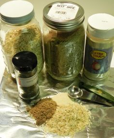 Onion Soup Mix (I'll just increase by a lot-I'd rather measure out of a jar then have the foil packets)