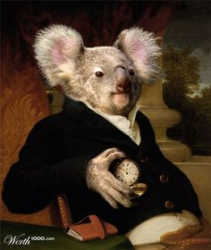 Classic Paintings With a Little Something Wild Animal Paintings, Animal Drawings, Illustrations, Illustration Art, Caricatures, Classic Paintings, Animal Heads, Pet Clothes, Belle Photo