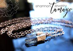 Rose Gold and Crystal Quartz Statement Necklace by Shannon T Jewelry #lariatnecklace #rawgem #rawcrystal #crystalpoints #edgy #roughcrystal #cystalquartz #bohojewelry #bohonecklace #lariat #bohocrystal #bohochic #bohemianjewelry #healingcrystal #smokeyblue #crystalpendant #festivalfashion #rawstone #wirework #rawmineral #shannontjewelry #wirewrapped #rosegoldcrystal #modernjewelry #sexynecklace #unique #rosegold #londonblue #OOAK #bluecrystal #dainty #minimal #rosegoldnecklace