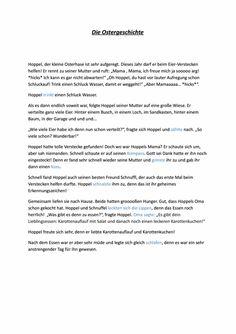 Eine Oster-Geschichte mit Aufgaben zur Mundmotorik. - zu myofunktionelle Störung. Auf madoo.net für deine logopädische Therapie.
