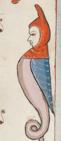 Detail from The Luttrell Psalter, British Library Add MS 42130 (medieval manuscript,1325-1340), f7r