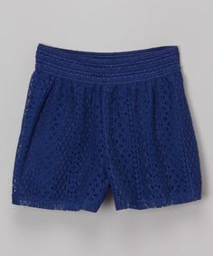Another great find on #zulily! Speechless Dark Blue Lace Shorts by Speechless #zulilyfinds