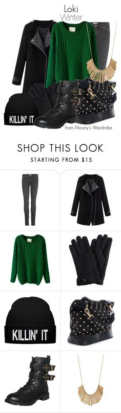 """""""Loki: Winter"""" by evalupin ❤ liked on Polyvore featuring Paige Denim, Chicnova Fashion, Givenchy, even&odd, Winter, Avengers, marvel and Loki"""
