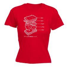 123t USA Women's BLT Sandwich Funny T-Shirt