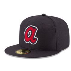 finest selection 877b5 724d0 Men s Atlanta Braves New Era Navy Game Diamond Era 59FIFTY Fitted Hat