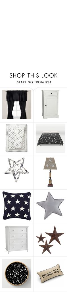 """Decorate with Stars"" by alina-n ❤ liked on Polyvore featuring interior, interiors, interior design, home, home decor, interior decorating, Threshold, Baccarat, Universal Lighting and Decor and GANT"